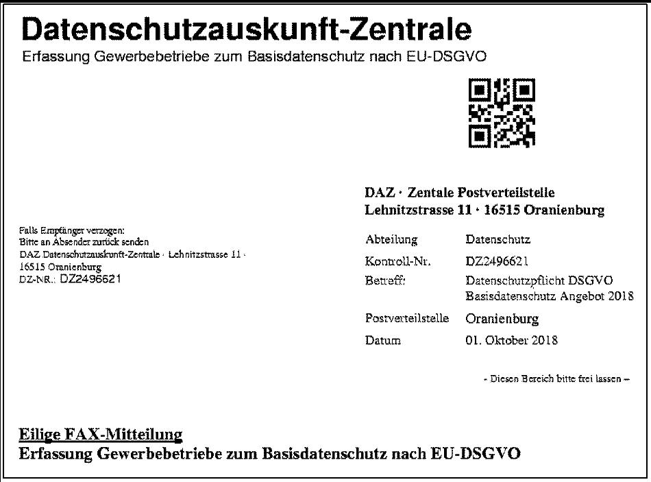 Zac Niedersachsen Angebot Der Datenschutzauskunft Zentrale Daz